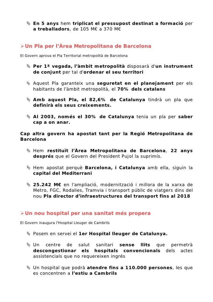 En 5 anys hem triplicat el pressupost destinat a formació per        a treballadors, de 105 M€ a 370 M€     Un Pla per l'À...
