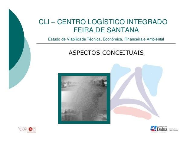 CLI – CENTRO LOGÍSTICO INTEGRADO         FEIRA DE SANTANA  Estudo de Viabilidade Técnica, Econômica, Financeira e Ambiental