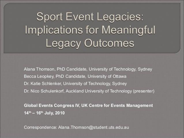 Alana Thomson, PhD Candidate, University of Technology, Sydney Becca Leopkey, PhD Candidate, University of Ottawa Dr. Kati...