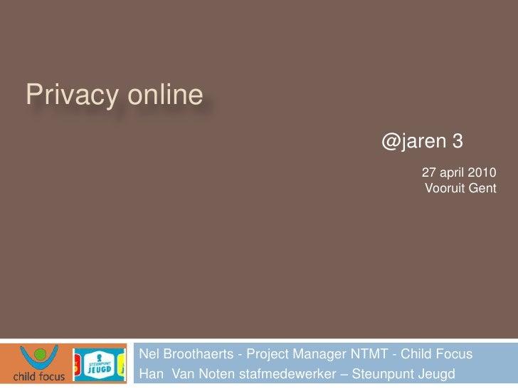 Privacy online                                              @jaren 3                                                     2...