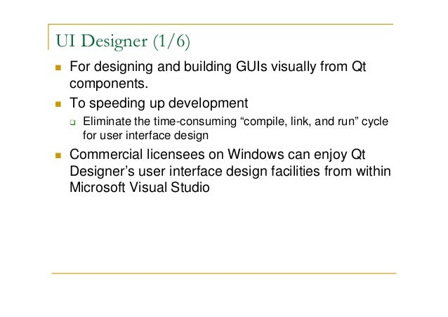 Qt Development Tools