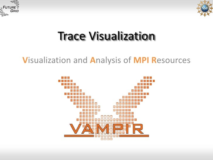 Trace Visualization Visualization and Analysis of MPI Resources