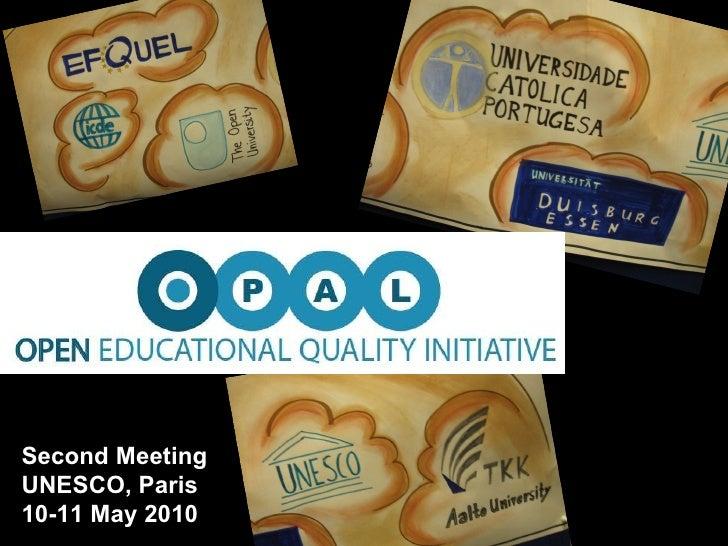 Second Meeting UNESCO, Paris 10-11 May 2010