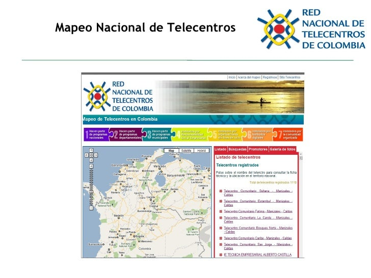 Mapeo Nacional de Telecentros