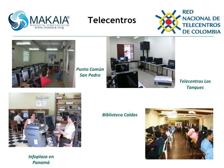 Telecentros Punto Común San Pedro Telecentros Los Tanques Biblioteca Caldas Infoplaza en Panamá