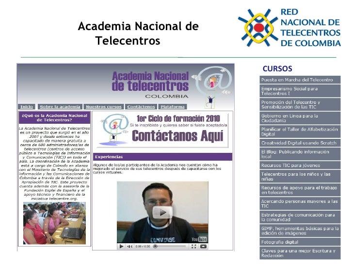 Academia Nacional de Telecentros CURSOS