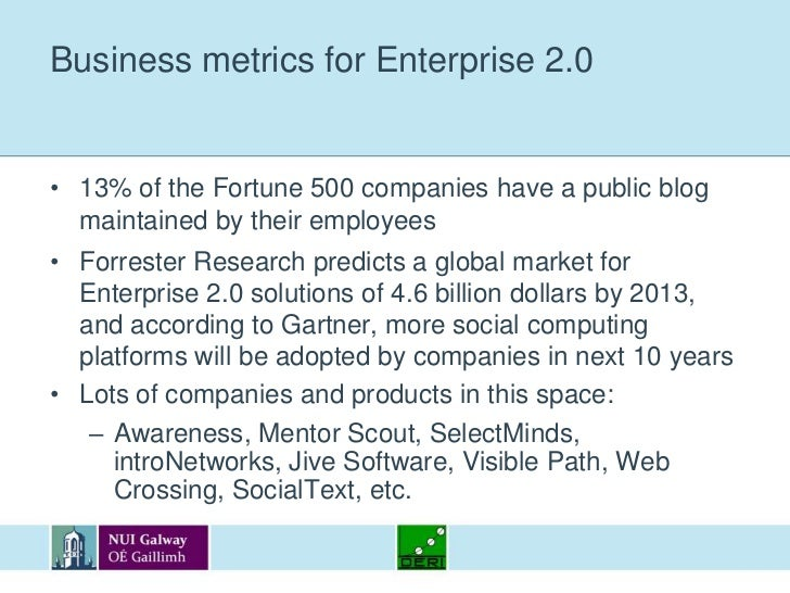 Keys to Enterprise 2.0 adoption<br />Combining top-down and bottom-up approaches helps to realise Enterprise 2.0:<br />Top...