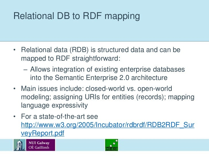 The RDF Bus approach<br />RDF Bus architecture (Tim Berners-Lee):<br />Add-ons to produce RDF data from existing Web 2.0 a...