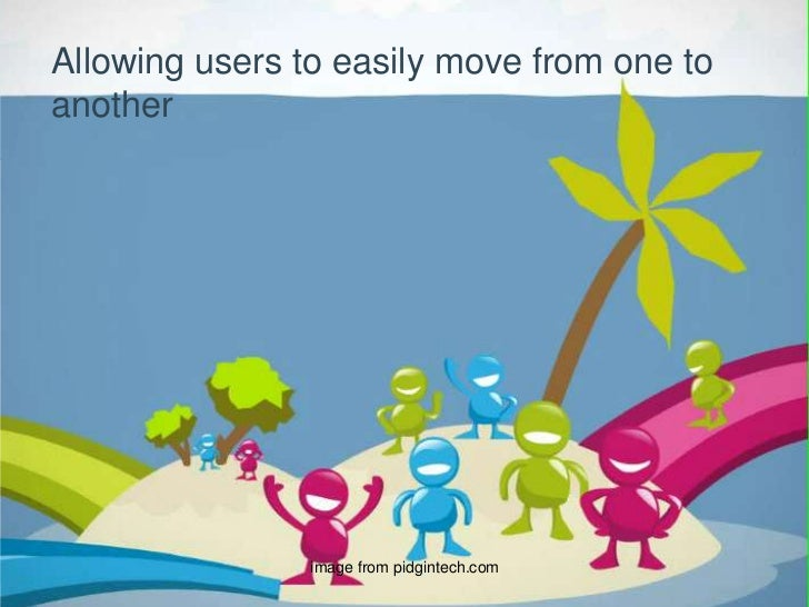 Allowing users to easily move from one to another<br />image from pidgintech.com<br />