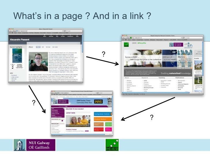 What's in a page ? And in a link ?<br />?<br />?<br />?<br />