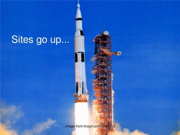Sites go up...<br />image from tinyurl.com/rocket15<br />