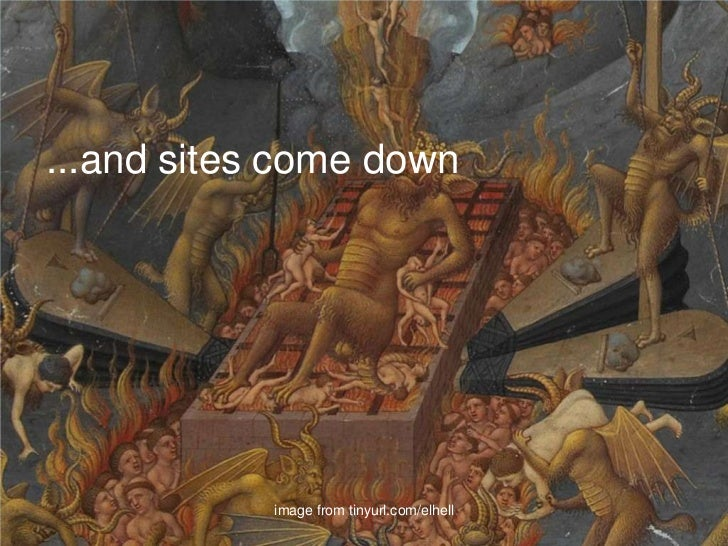 ...and sites come down<br />image from tinyurl.com/elhell<br />