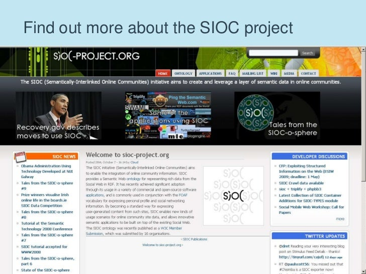 72<br />Find out more about the SIOC project<br />