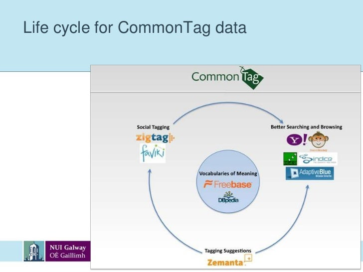 Life cycle for CommonTag data<br />