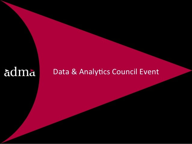Data & Analy*cs Council Event