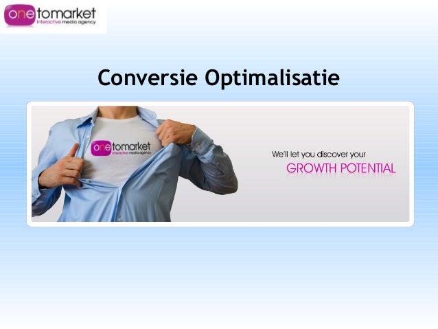 Conversie Optimalisatie