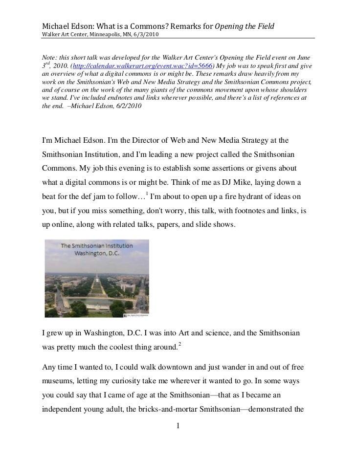 Michael Edson @ Walker Art Center: What is a Commons Slide 2