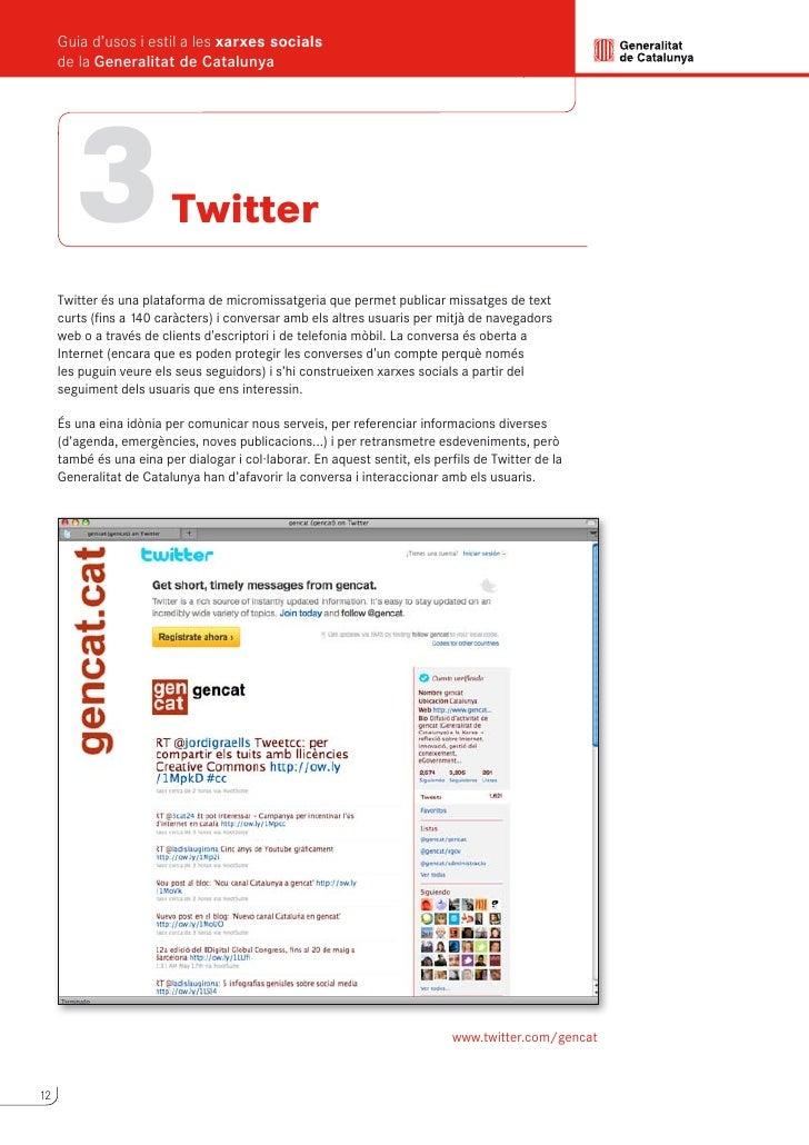 Guia d'usos i estil a les xarxes socials                                                                  de la Generalita...