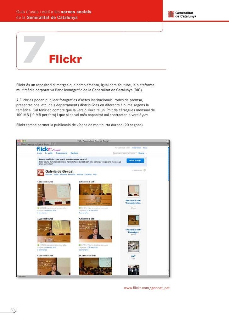 Guia d'usos i estil a les xarxes socials                                                        de la Generalitat de Catal...