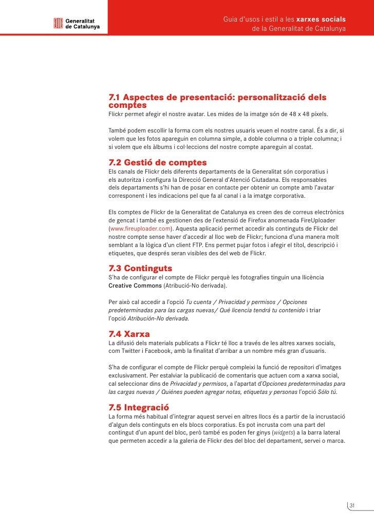 Guia d'usos i estil a les xarxes socials      de la Generalitat de Catalunya            8                Slideshare       ...