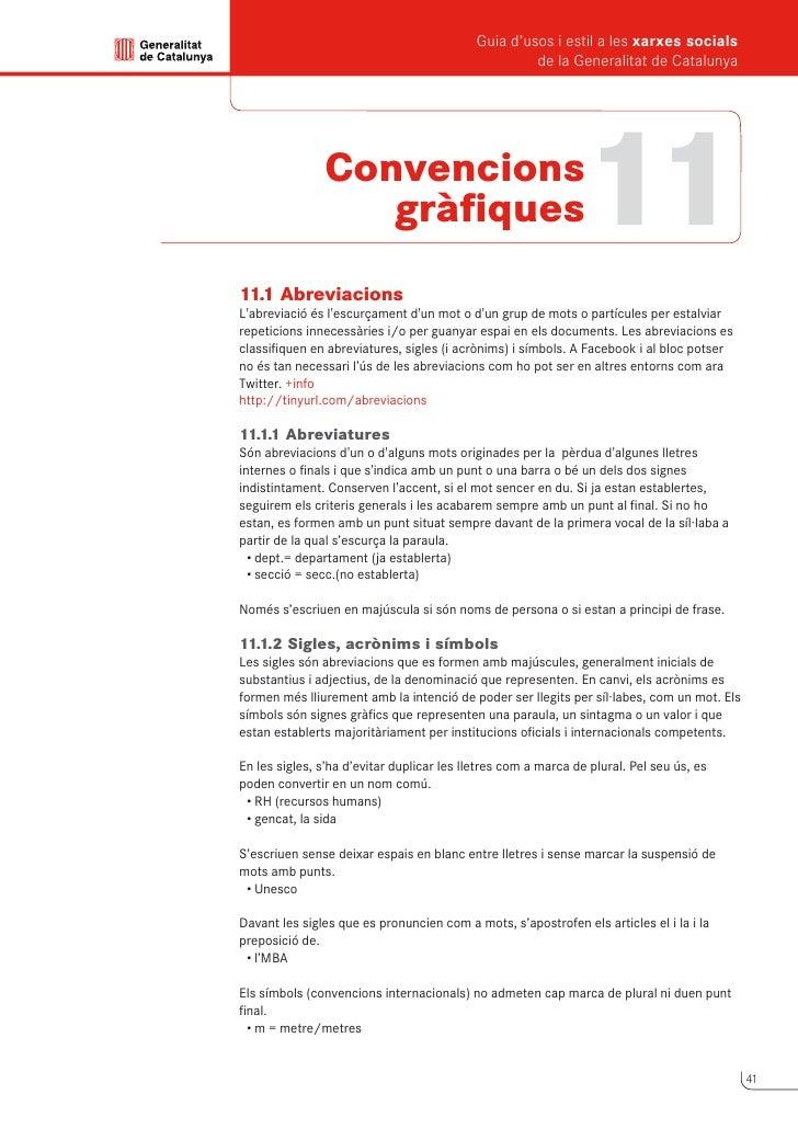 Guia d'usos i estil a les xarxes socials      de la Generalitat de Catalunya          11.2 Majúscules i minúscules      Ma...