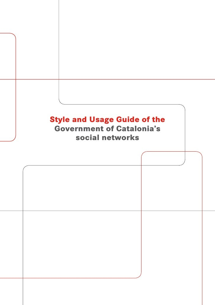 Style and Usage Guide of the  Government of Catalonia's        social networks