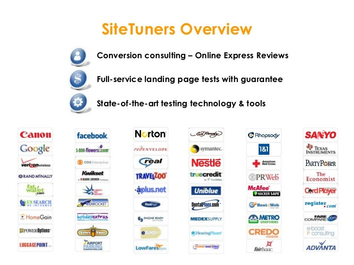 Conversion consulting – Online Express Reviews<br />Full-service landing page tests with guarantee<br />State-of-the-art t...