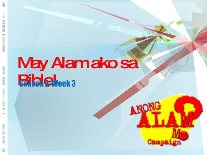 May Alam ako sa Bible! Season 2-Week 3