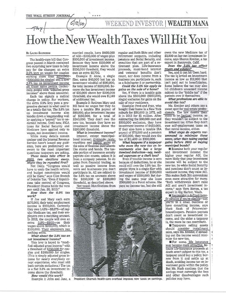 New Wealth Taxes