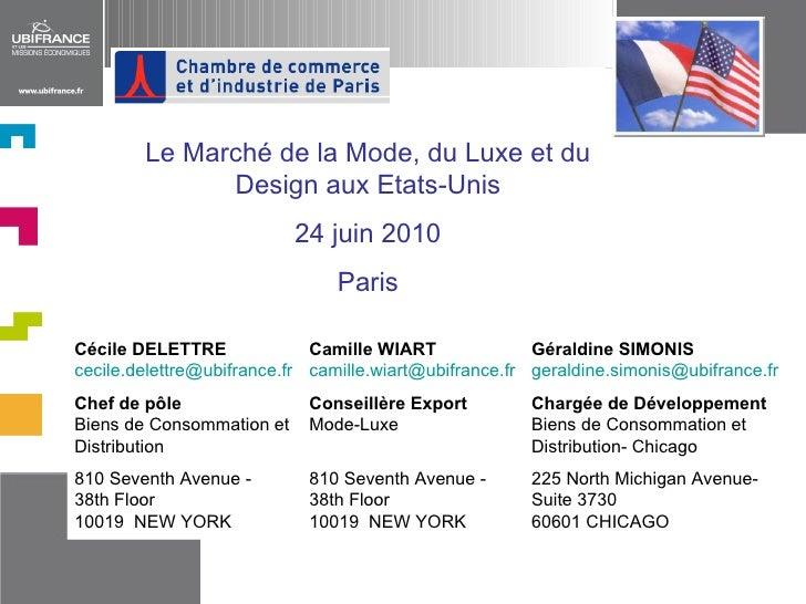Cécile DELETTRE   [email_address]   Chef de pôle   Biens de Consommation et Distribution 810 Seventh Avenue -  38th Floor ...
