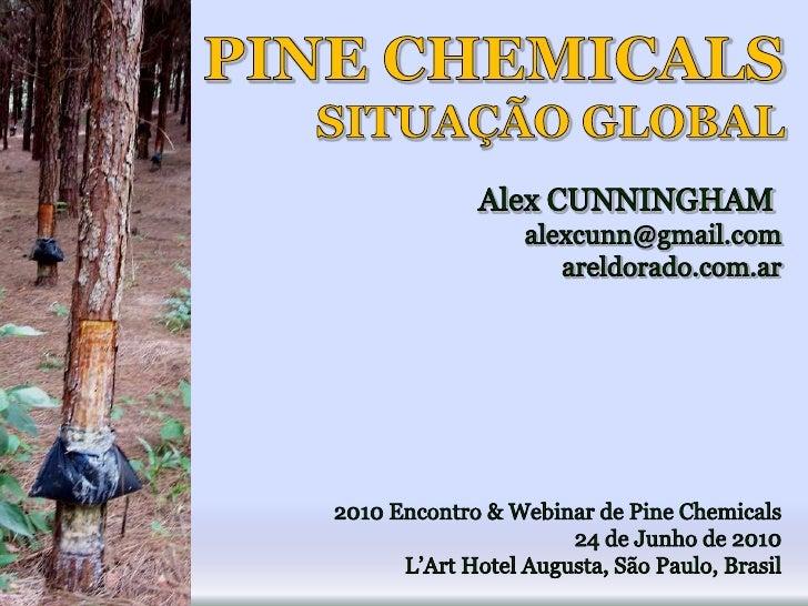 PINE CHEMICALS<br />SITUAÇÃO GLOBAL<br />Alex CUNNINGHAM <br />alexcunn@gmail.com<br />areldorado.com.ar<br />2010 Encontr...