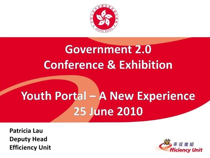 Patricia Lau Deputy Head Efficiency Unit