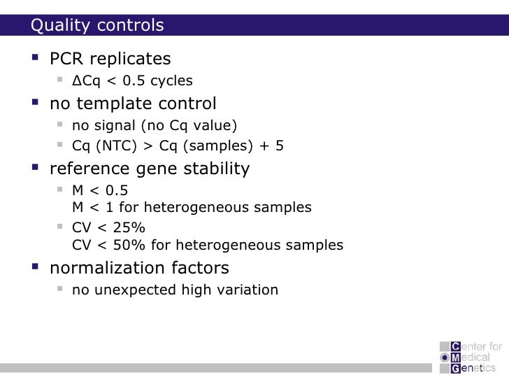 How to do successful gene expression analysis siena 20100625 qbaseplus accelerating your analysis 39 quality control pronofoot35fo Choice Image