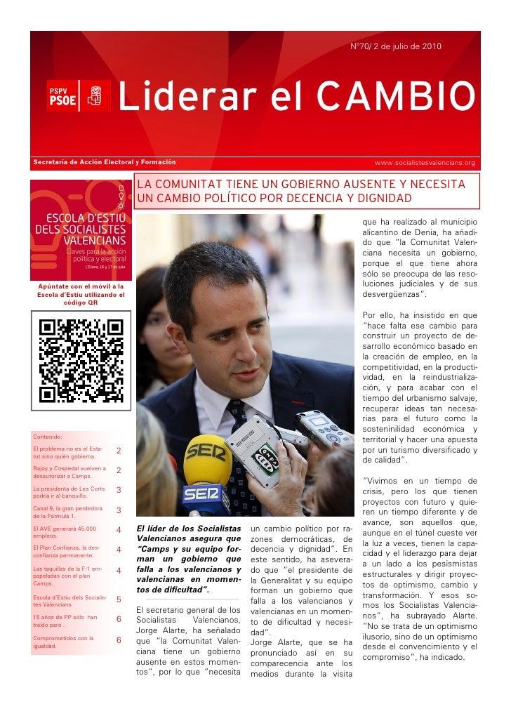 Nº70/ 2 de julio de 2010                                     Liderar el CAMBIO Secretaría de Acción Electoral y Formación ...