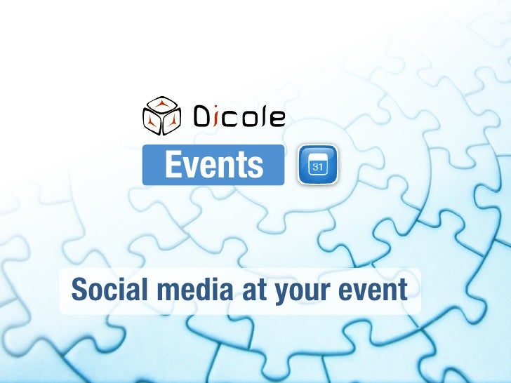 Events   Social media at your event