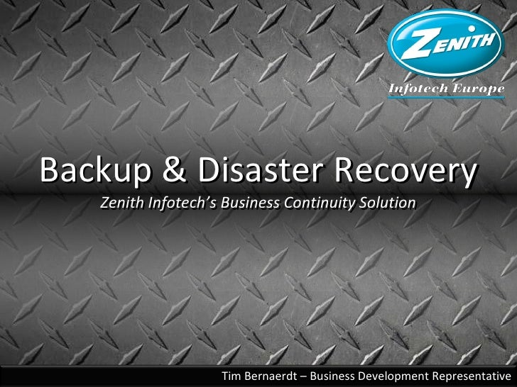 Backup & Disaster Recovery Zenith Infotech Europe