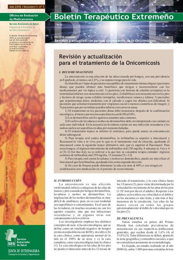 Boletín Terapéutico ExtremeñoOficina de Evaluación de Medicamentos Servicio Extremeño de Salud Programa de la Consejería d...