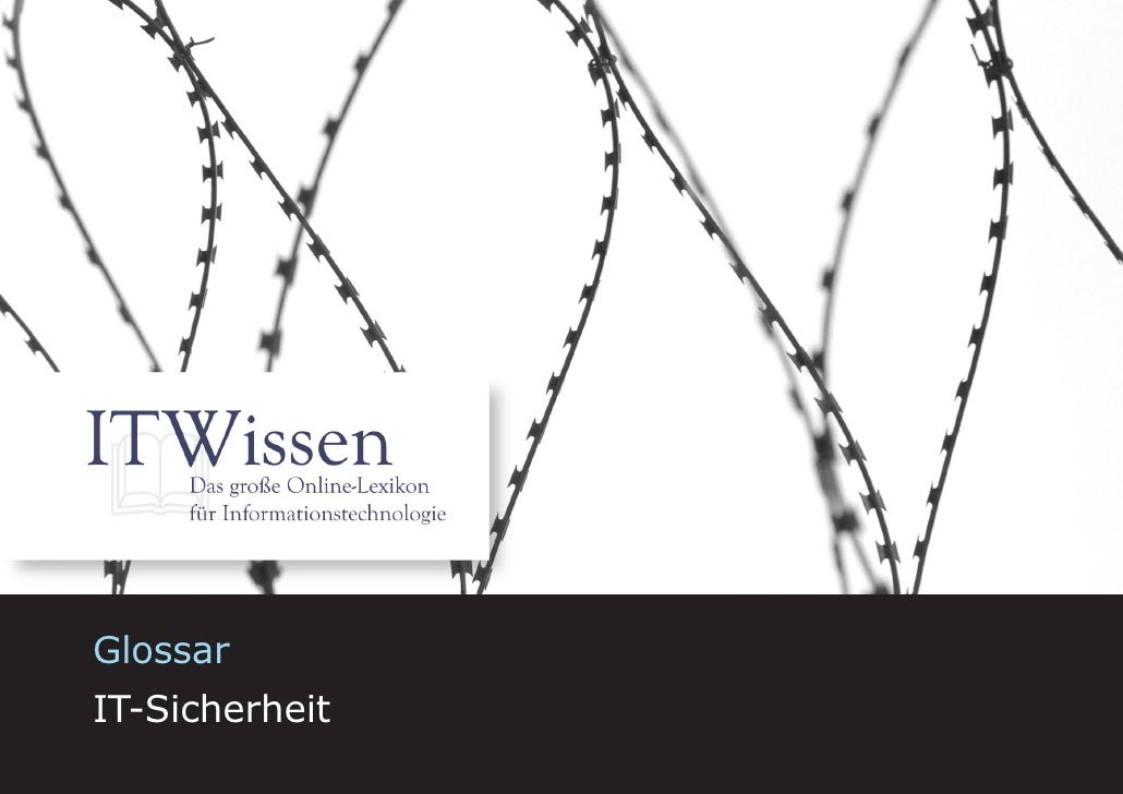 IT-Sicherheit     Glossar IT-Sicherheit                           1