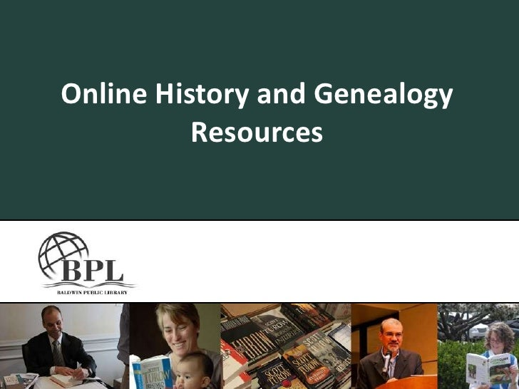 Online History and Genealogy Resources<br />