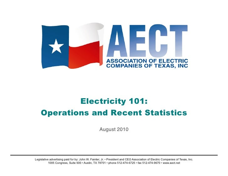 AECT Electricity 101: August 2010