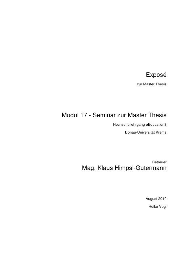 expose dissertation bwl