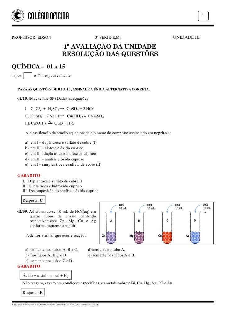 COLÉGIO OFICINA                                                                                      1PROFESSOR: EDSON    ...