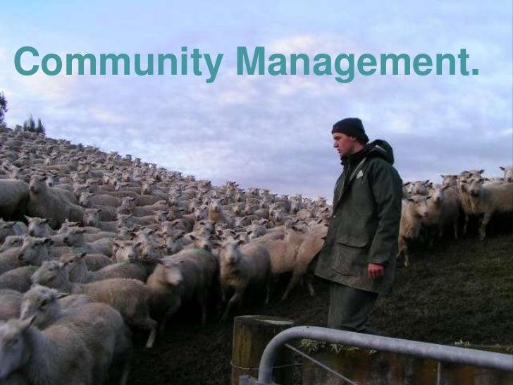 Community Management.<br />