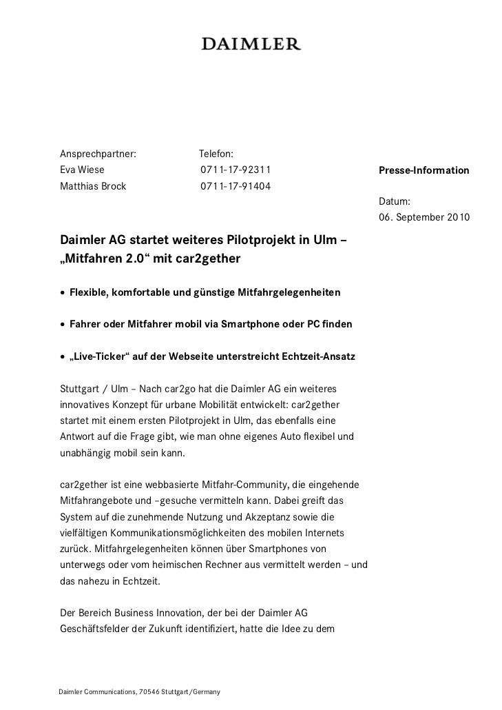 Ansprechpartner:                        Telefon:Eva Wiese                               0711-17-92311                Press...