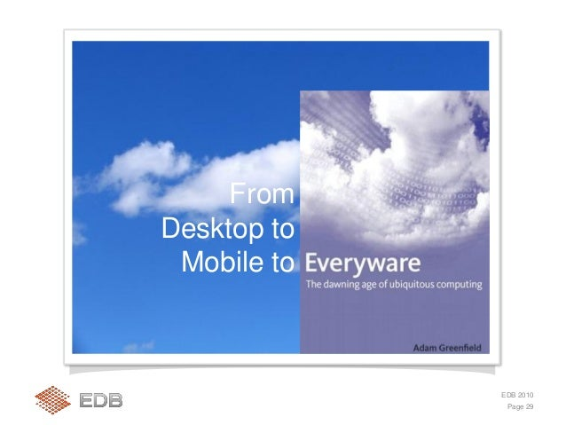 But we are just in the early stages of the 5th IT wave, The Mobile Internet Page 31 EDB 2010 Kilde: comScore Global 1/10