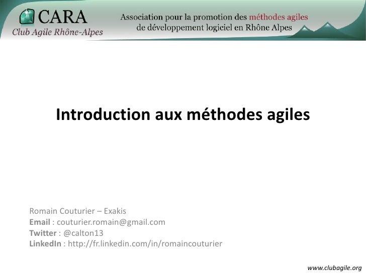 Introduction à l'agilité