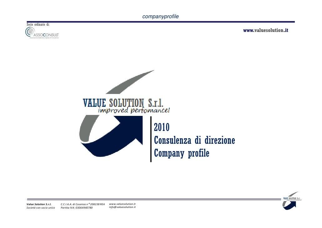 20100910   Value Solution   Profile