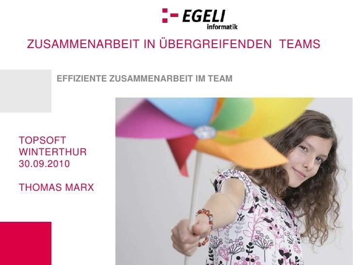 Effiziente Zusammenarbeit im Team<br />Topsoft Winterthur 30.09.2010<br />Thomas Marx<br />