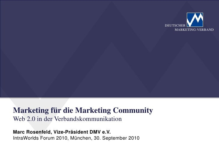 DEUTSCHER                                                           MARKETING-VERBAND     Marketing für die Marketing Comm...