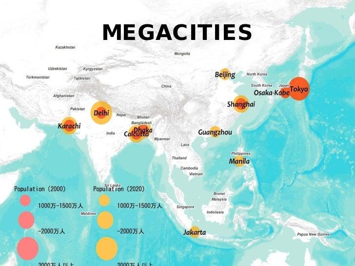 Urbanization Issues &                  Problems              都市化の要因と課題•   Economic Growth and Industries 経済成長と産業•   Povert...